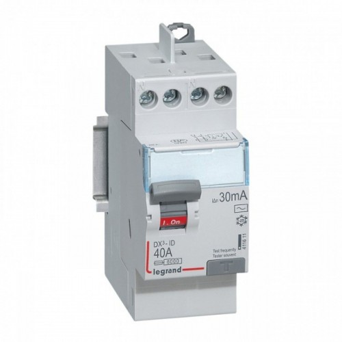 Interrupteur différentiel Auto DX3 40A Type AC Legrand Réf: 411611