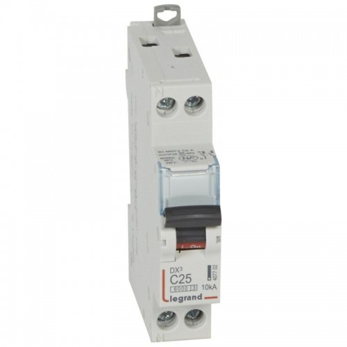Disjoncteur DX3 25A 230V 10KA courbe C Legrand Réf: 407702