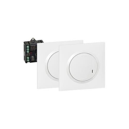 Prêt-à-poser Dooxie : Créer un va-et-vient avec 2 commandes sans fil et 1 micromodule blanc Legrand Réf: 600699