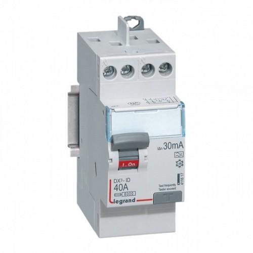 Interrupteur différentiel Auto DX3 40A Type A Legrand Réf: 411617