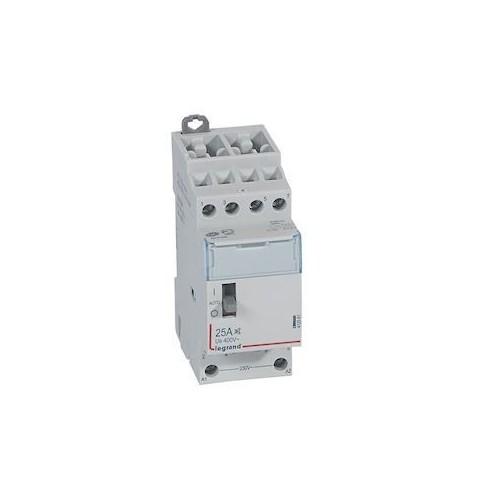 Contacteur de puissance bobine 230V~ 4 pôles - 25A - 4F - 2 modules Legrand Réf: 412551