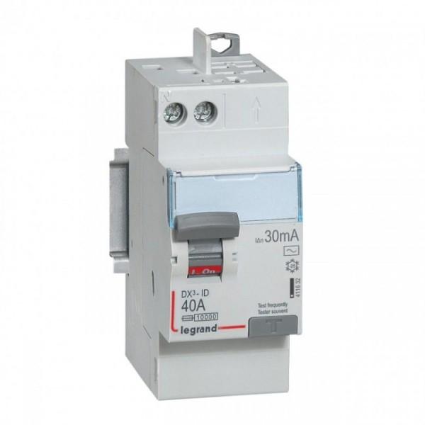Interrupteur différentiel Auto DX3 40A Type AC Legrand Réf: 411632
