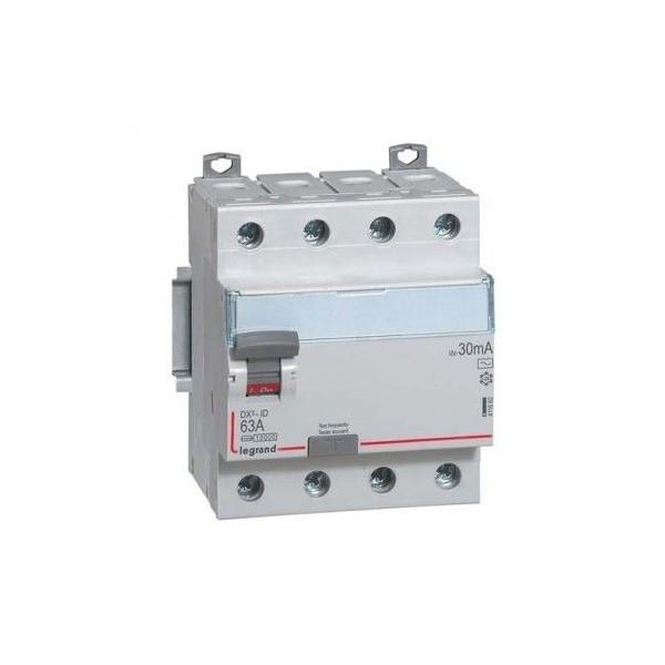 Interrupteur différentiel DX³-ID vis/vis 4P 63A Type AC Legrand Réf: 411662