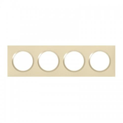 Plaque de finition quadruple dune Legrand Dooxie Réf: 600814