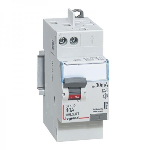 Interrupteur différentiel à Vis DX3 40A Type A Legrand Réf: 411638