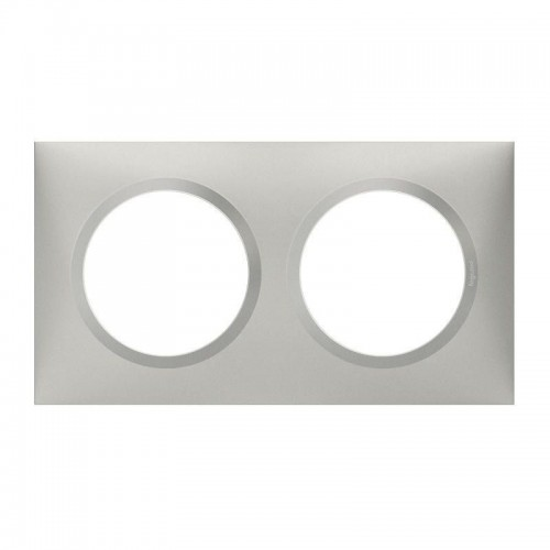 Plaque de finition double effet Aluminium Mat Legrand Dooxie Réf: 600852