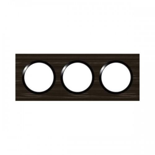 Plaque de finition triple effet bois ébène Legrand Dooxie Réf: 600883