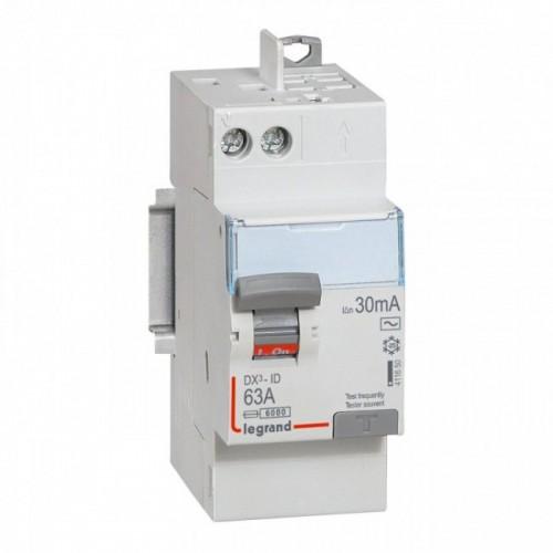 Interrupteur différentiel Auto DX3 63A Type AC Legrand Réf: 411650