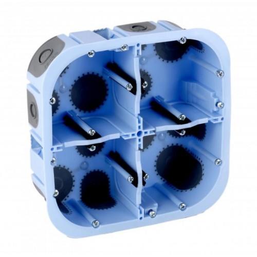Boite d'encastrement 2x2 postes étanche Air'métic profondeur 50mm Eur'Ohm Réf: 51017