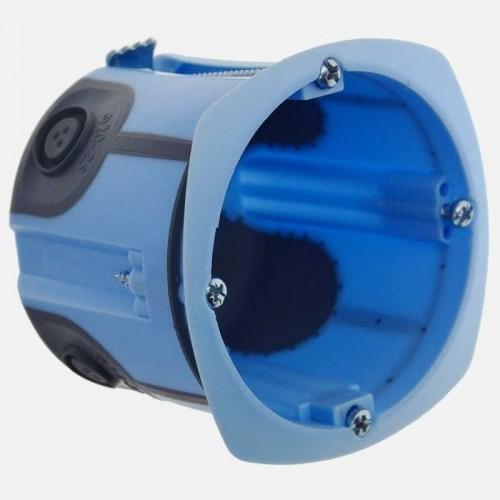Boite d'encastrement 1 poste étanche à l'air profondeur 60mm diamètre 67mm Eur'Ohm Réf: 52073