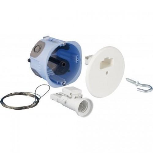 Kit DCL point de centre avec arrimage intégré + Fiche douille E27 diamètre 67mm Eur'Ohm Air'Métic Réf: 53094