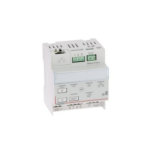 Télécommande modulaire connectée IP pour bloc d'éclairage et alarme incendie Legrand Réf: 062520