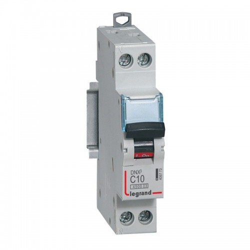Disjoncteur DNX Phase + Neutre 10A Legrand Réf: 406773