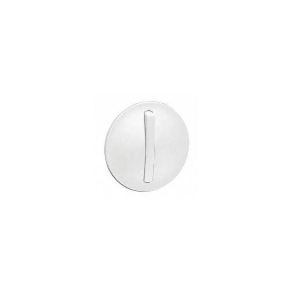 Enjoliveur étroit pour interrupteur, va-et-vient ou poussoir Soft blanc Céliane Legrand Réf: 065001