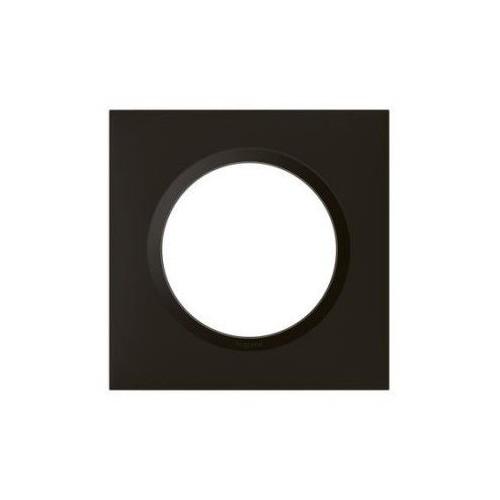 Plaque de finition simple carrée noir velours Legrand Dooxie Réf: 600861