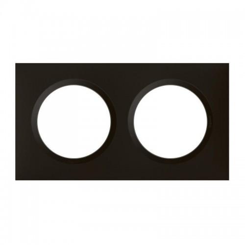Plaque de finition double noir velours Legrand Dooxie Réf: 600862