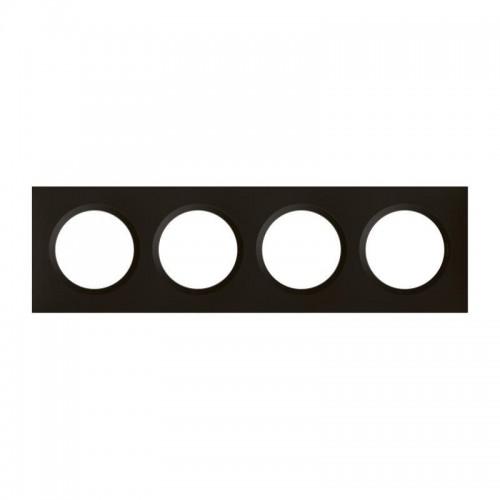 Plaque de finition quadruple noir velours Legrand Dooxie Réf: 600864