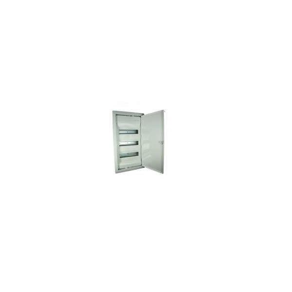 Coffret électrique encastré 3 rangées + porte métal extra plate 36+6 modules Legrand Réf: 001533