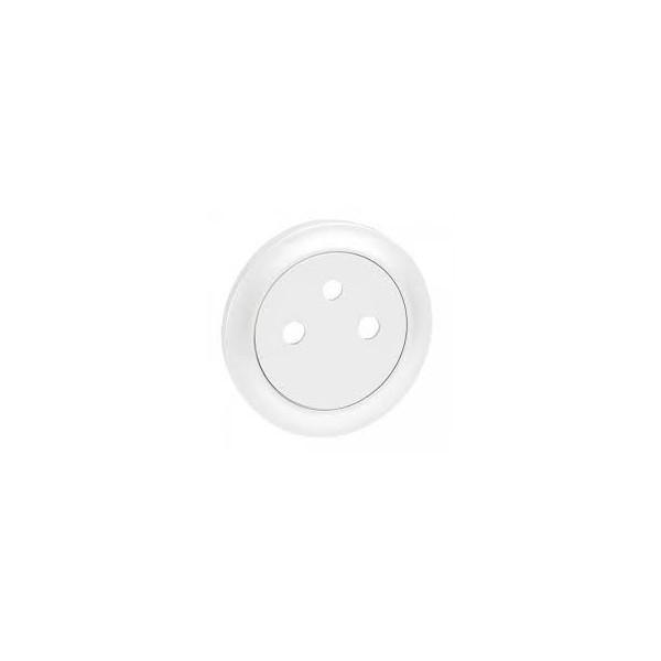 Enjoliveur prise de courant affleurante 2P + T Céliane Réf: 68111
