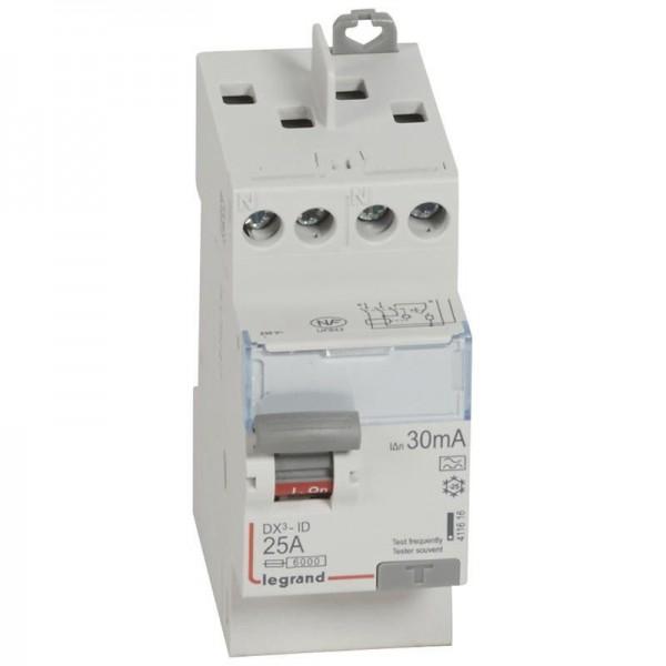 Interrupteur différentiel DX3 25A type A Legrand Réf: 411616