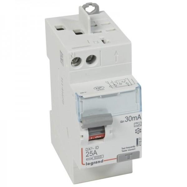 Interrupteur différentiel DX3 25A type A Legrand Réf: 411637