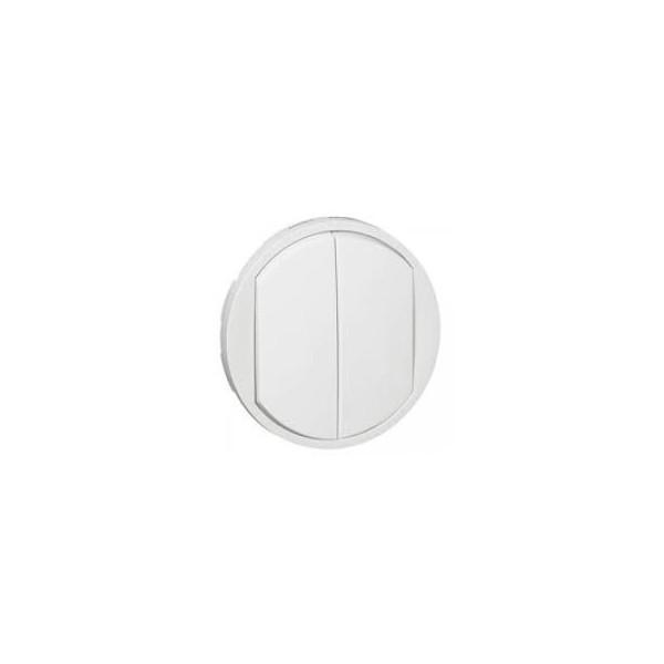 Enjoliveur blanc double allumage Céliane Réf: 68002