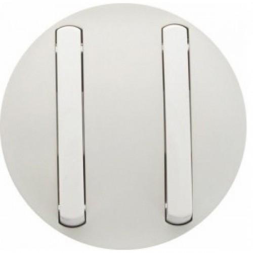 Enjoliveur blanc double allumage Céliane Réf: 65002