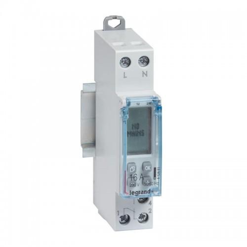 Interrupteur horaire modulaire programmable journalier et hebdomadaire standard Legrand Réf: 412681