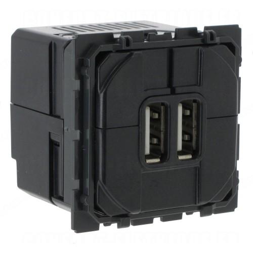 Chargeur double USB Céliane Type-A 2,4A 12W Legrand Réf: 067462