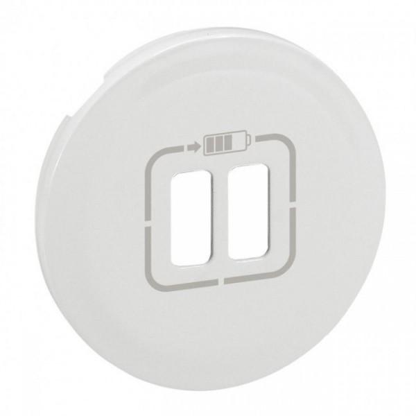Enjoliveur double USB blanc Céliane Réf: 68256
