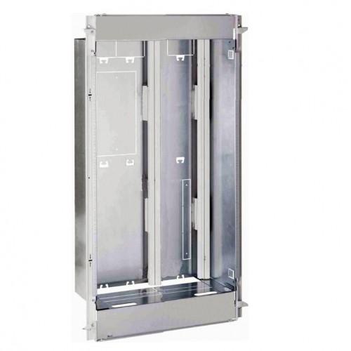 Bac + cadre métal 1 travée Drivia 18 pour coffret 2R + panneau contrôle ENEDIS + coffret de com. basique Legrand Réf: 401444