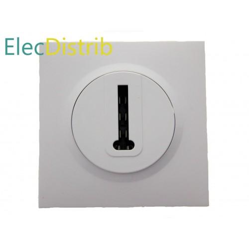 Dooxie Complet : Prise de téléphone en T et Plaque de Finition blanche Legrand Réf. 600368 et 600801
