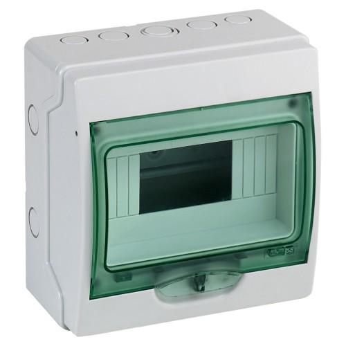 Mini coffret étanche 8 modules Kaedra - 195 x 200 mm - Schneider Réf: 13959