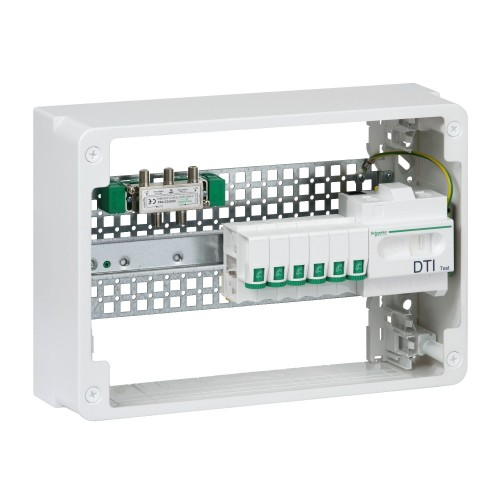 Lexcom home Grade 2TV + 4RJ45 cat6 18 modules Schneider Réf: VDIR390041