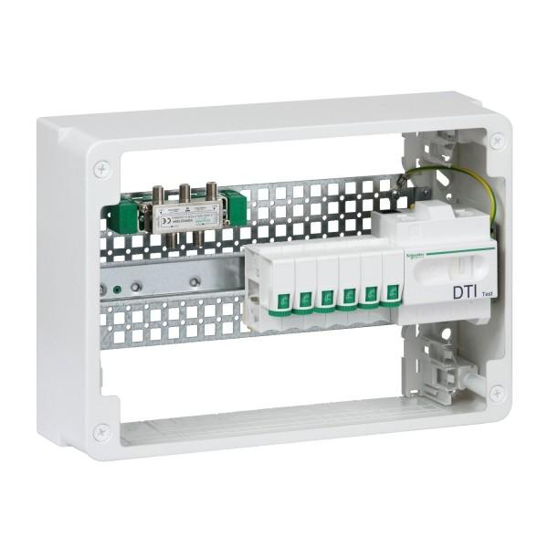 Lexcom home Grade 2TV + 4RJ45 cat6 18 modules Schneider Réf: VDIR390041