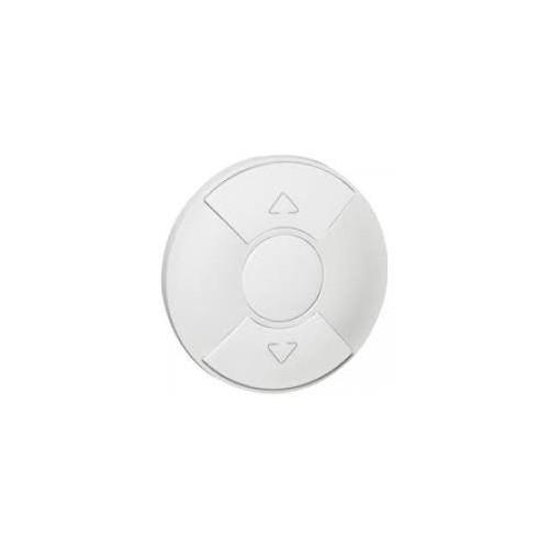 Enjoliveur interrupteur volet roulant et store blanc Céliane Réf: 068151