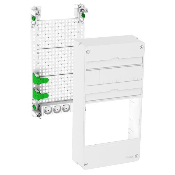Lexcom Home coffret vide activbox 3 rangées pour équipement : box, switch Schneider Réf: VDIR511004