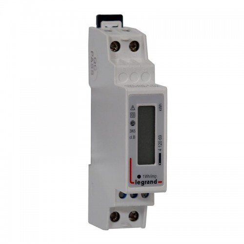 Compteur modulaire monophasé EMDX3 MID raccordement direct 45A Legrand Réf: 412069