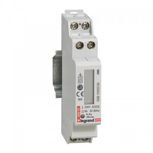 Compteur modulaire monophasé EMDX3 non MID raccordement direct 32A Legrand Réf: 004670