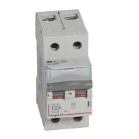 Interrupteur sectionneur DX3-IS 2 pôles 400V~ 100A 2 modules Legrand Réf: 406449