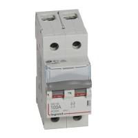 Interrupteur sectionneur DX3-IS 2 pôles 400V~ 100A 2 modules Legrand Réf: 406449