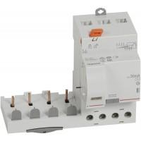 Bloc différentiel adaptable 40A type AC 30mA à vis DX3 pour disjoncteur 4 pôles Legrand Réf: 410499