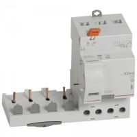 Bloc différentiel adaptable 40A type AC 300mA à vis pour disjoncteur 4 pôles DX3 6000-400V Legrand Réf: 410511