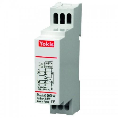 Télérupteur modulaire temporisé 2000W Yokis Réf: 5454360 MTR2000M