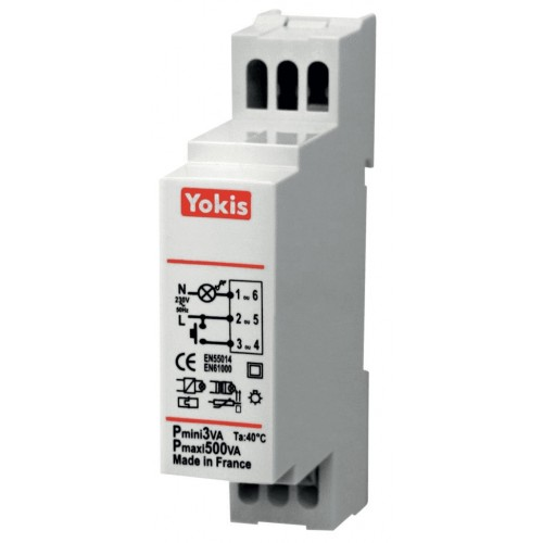 Télévariateur modulaire 500W Yokis Réf: 5454062 MTV500M