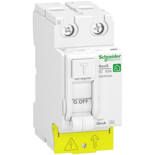 Interrupteur différentiel 2P 63A type FSI peignable XP Schneider Réf: R9PRF263