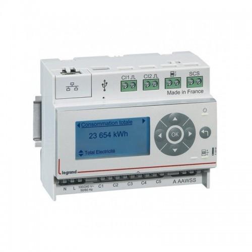 Ecocompteur modulaire IP pour mesure consommation sur 6 postes Legrand Réf: 412000