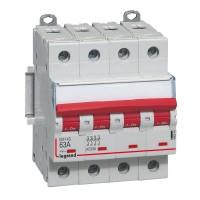 Interrupteur sectionneur 63A 4 pôles 400V DX3 - IS Legrand Réf: 406544
