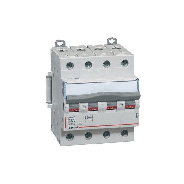 Interrupteur sectionneur DX3 63A 4 pôles tétrapolaire 400V Legrand Réf: 406481