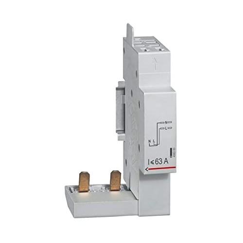 Module de raccordement par peigne pour DX3 - DX3 ID - DX3 IS à borne automatique 2P jusqu'à 63A Legrand Réf: 406300